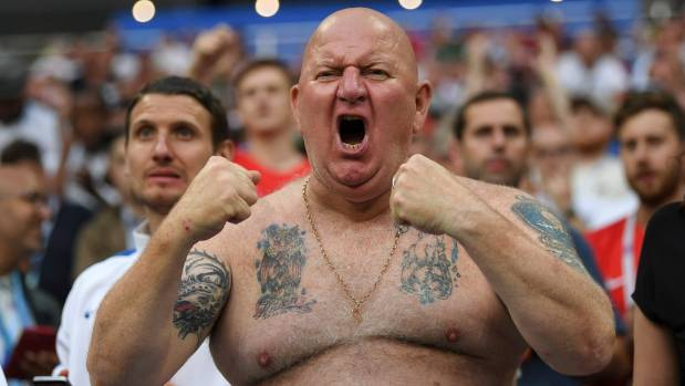 It would probably be OK under Fifa guidelines for the cameras to pick out this England fan