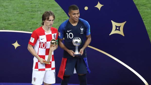 Image result for Croatian wins MVP at World Cup despite losing final to France