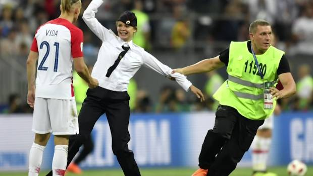 Kylian Mbappe 'fantastic' with Pussy Riot pitch invaders in