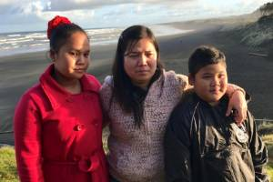Tha Dah Paw Ukay (left) was fishing with her parents when the accident happened. Her brother, Jay Ukay (right), was also ...