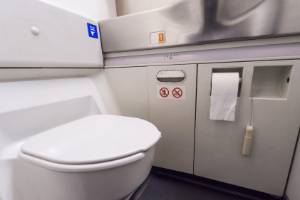 Airplane bathrooms weren't that big to begin with - and now they're getting even smaller.