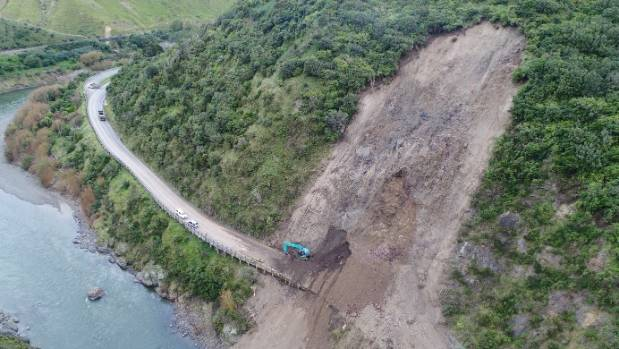 State Highway 3 through the Manawatū Gorge has been closed since slips fell on the road in 2017.