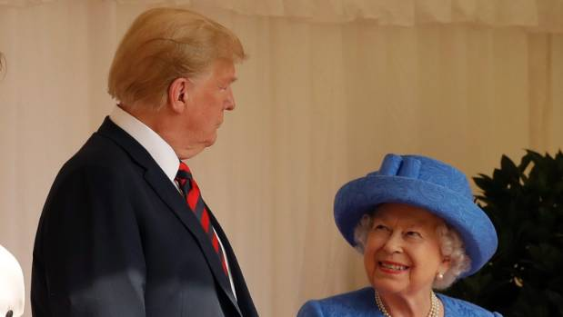 Was the Queen subtly trolling Trump with her jewellery?