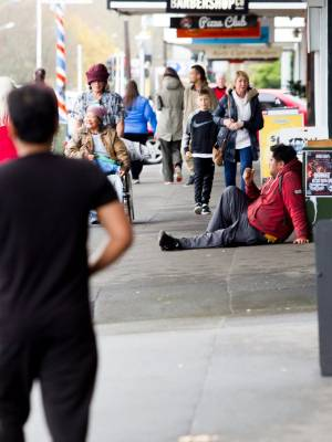 Some beggars stay in a seated position, the local business association said, but they're worried about the ones who ...