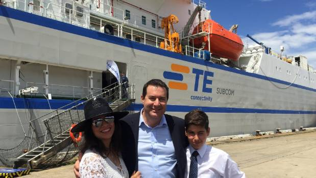 Hawaiki Cable chief executive Remi Galasso - with wife Mania and their son Darian - has been the driving force behind a ...