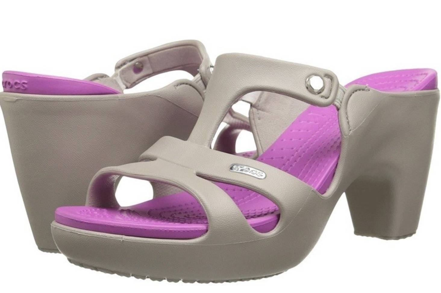 5d2243d82 Crocs can t keep its ugly foam high-heeled sandal in stock
