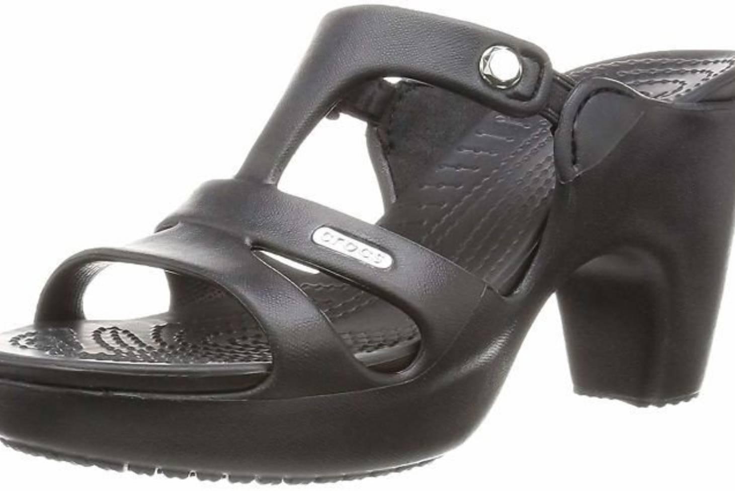 87e3b2338 Crocs can t keep its ugly foam high-heeled sandal in stock