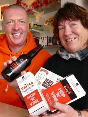 United Brewing director Kevin Downie and The Seriously Good Chocolate Company owner Jane Stanton have collaborated again ...