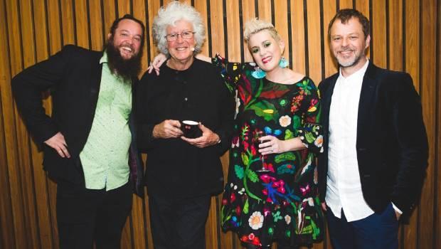 Leunig with singer/ songwriter Katie Noonan and members of the Elixir Trio