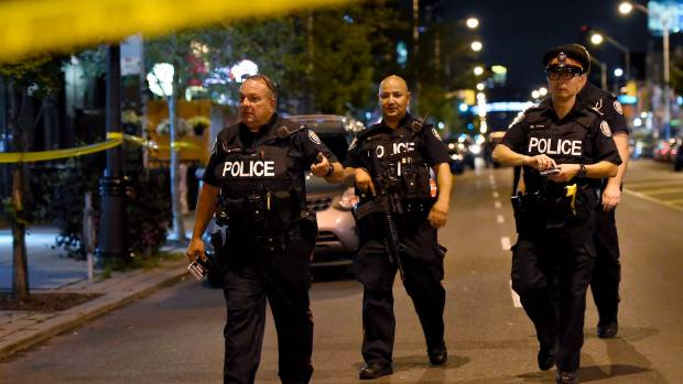 Toronto shooting: Woman and gunman dead, 13 others injured