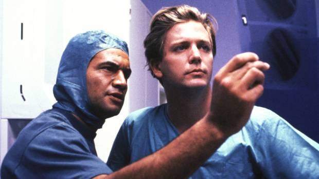 Temuera Morrison as Dr. Hone Ropata and Michael Galvin as Chris Warner in Shortland Street.