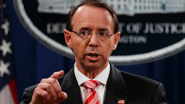 House GOP lawmakers move to impeach Deputy AG Rosenstein