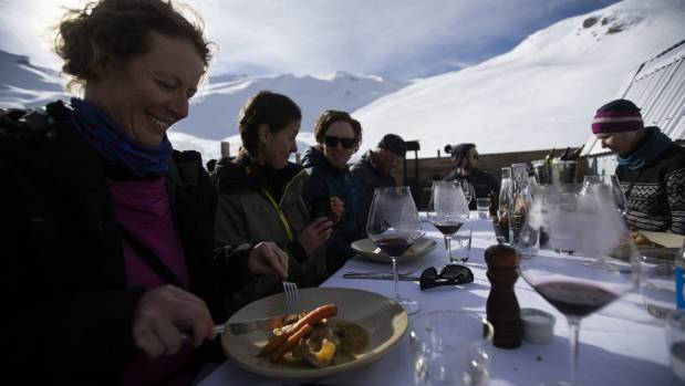 A gourmet three-course lunch and wine in the middle of nowhere.