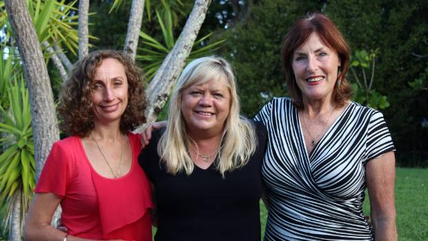 Korte and her Mesh Down Under co-founders Carmel Berry and Patricia Sullivan.