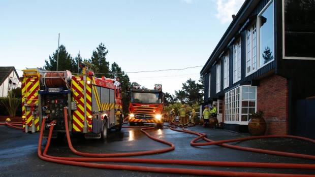 Fire and Emergency attended a fire at The Lodge at Pauatahanui Inlet on Monday morning.