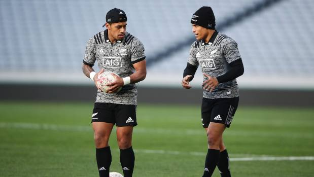 The clear No 1 halfback in the country, Aaron Smith, right, gives some tips to Te Toiroa Tahuriorangi, who was called ...