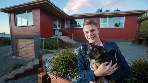 Blair Hingston, 22, moved to Timaru four months ago from Hamilton for a new job and has bought a house here. He loves the district and the fact he has been able to get a puppy he has named Eddie.