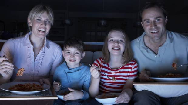 Children and parents should focus on each other at meal times, and not on the TV.