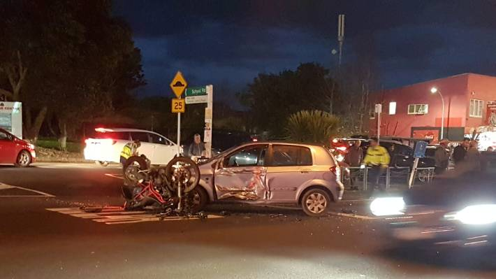 Serious Crash Between A Car And A Motorcycle Closes