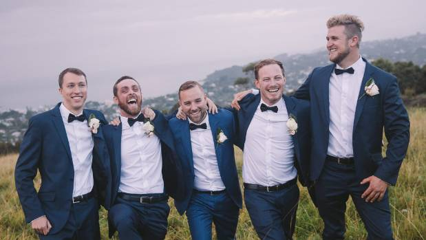 The groom and groomsmen clearly had a good time