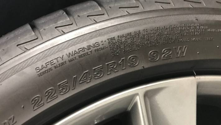 Car 101 What All Those Letters And Numbers On The Side Of A Tyre