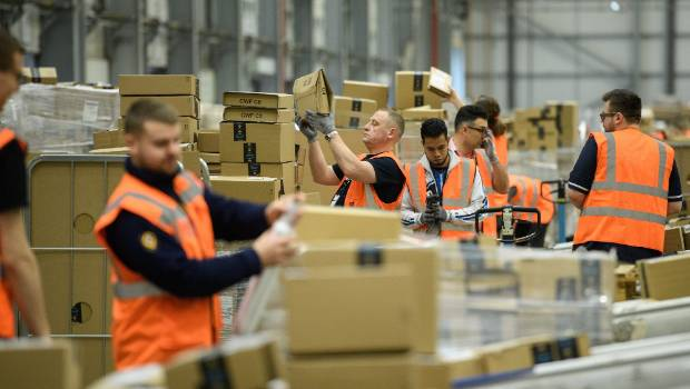 Amazon's average wages at its fulfillment centres is US$13 an hour