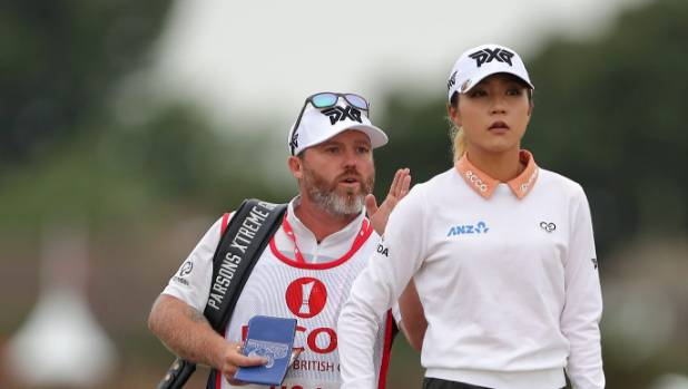 Ko gets some advice from her caddy