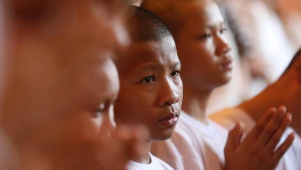 Rescued Thai boys complete Buddhist rite