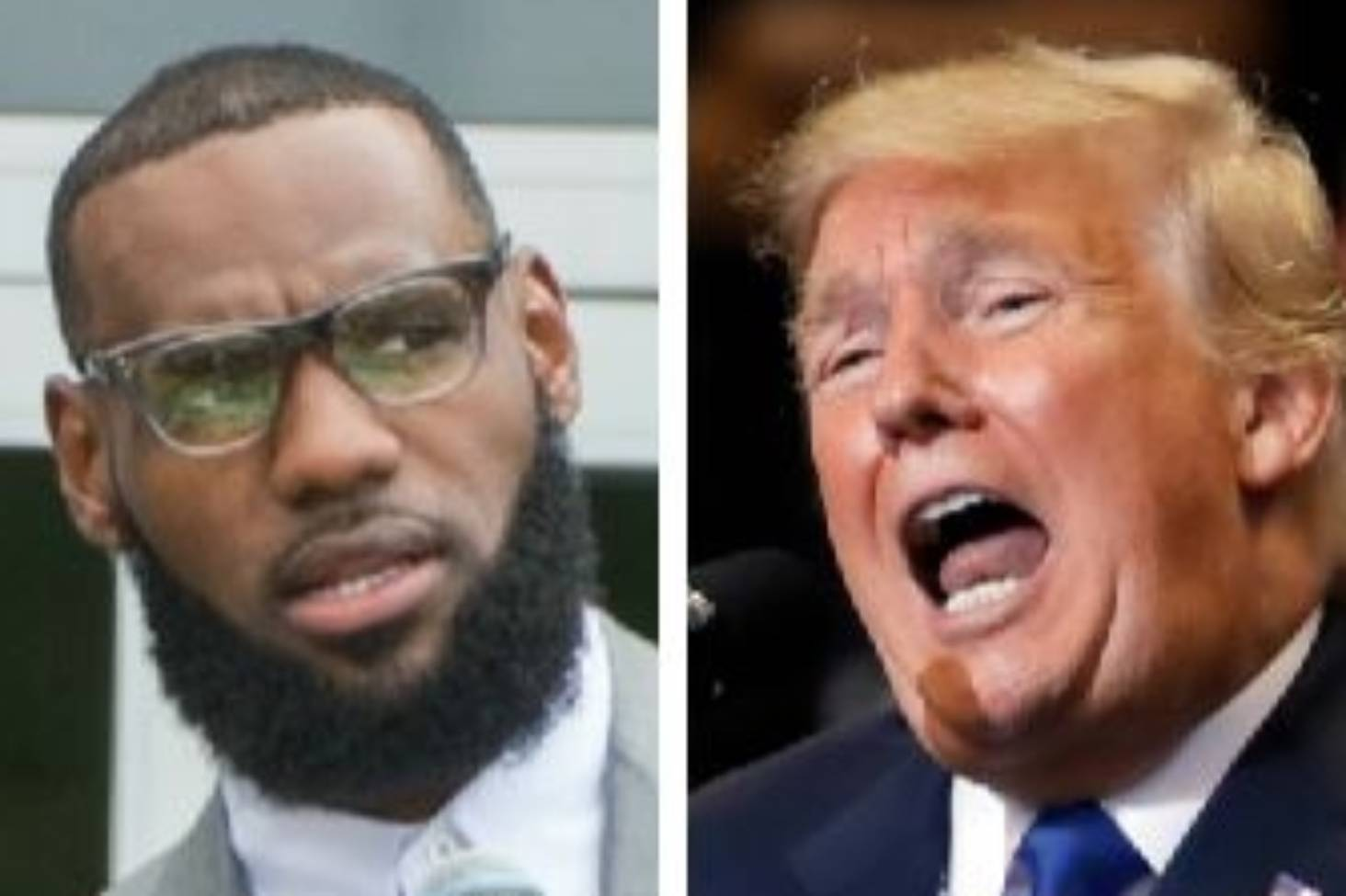 00ffdc932ba US President Donald Trump rips LeBron James  smarts hours before rally