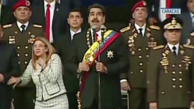 Venezuela: Nicolas Maduro's public speech cut short after apparent explosion