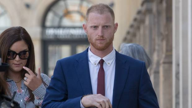 England cricketer Ben Stokes walks into Bristol Crown Court. Stokes has been jointly charged with affray outside