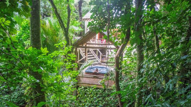 Inside New Zealand's adults-only tree hut spa