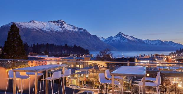 The view from the rooftop terrace at Mi-pad Queenstown.