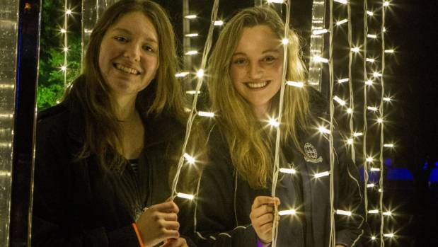 An estimated 30,000 people flooded into the Botanic D'Lights in Christchurch on Thursday night.