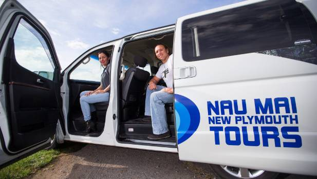Gina and Tama Blackburn saw a gap in Taranaki's tourism market and started Nau Mai Tours.