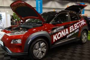 The all-new Hyundai Kona EV put in an appearance at EVworld.