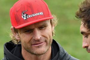Crusaders coach Scott Robertson, centre, and captain Sam Whitelock, right, have formed a successful combination by ...