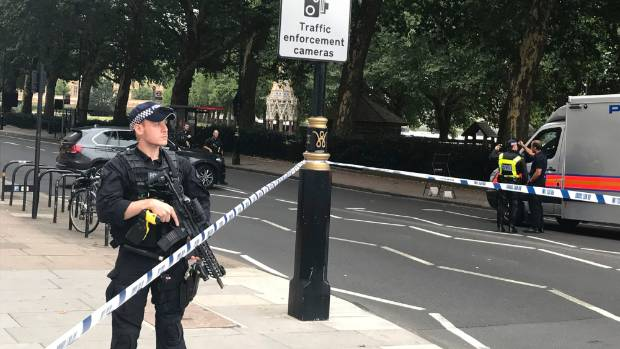 Pedestrians injured in crash outside parliament in London