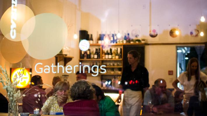 Gatherings restaurant in Christchurch opened in 2017.