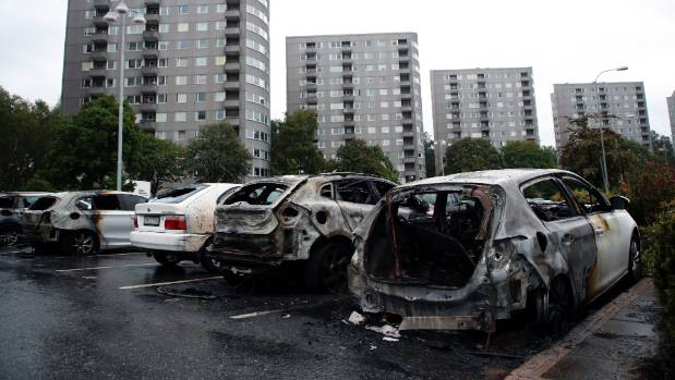 Cars Torched in Sweden Monday Night - Was it Antifa?