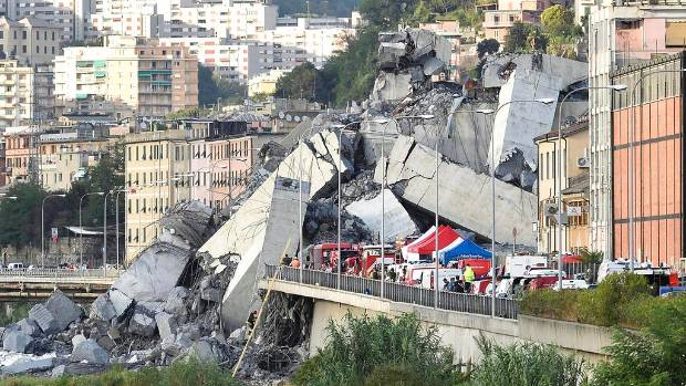 Giant Italian bridge collapse wreaks havoc in city of Genoa