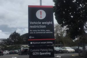 This sign at a Remuera carpark in Auckland shows how out of date Auckland Transport's thinking is.