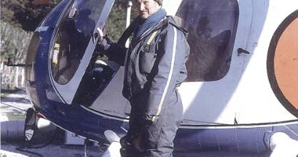 """Alan """"Dunc"""" Duncan in one of his deer recovery helicopters."""