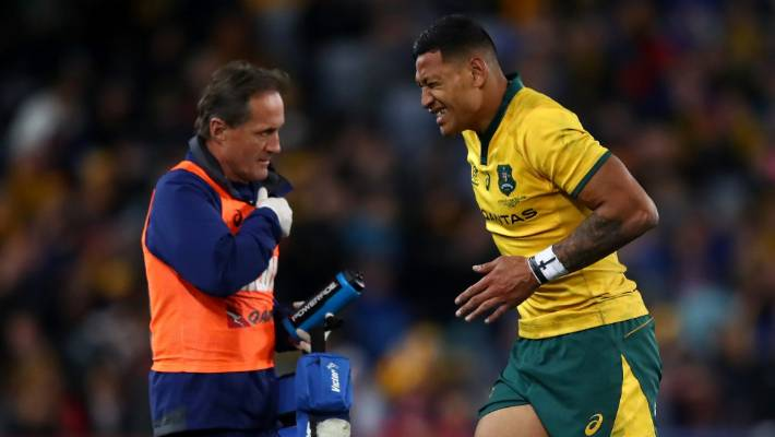 bd0ee0d7d79 Wallabies fullback Israel Folau has been ruled out of Bledisloe II in  Auckland after suffering an