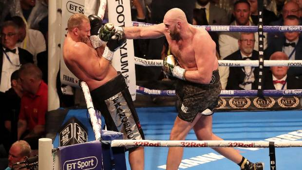 Italian Francesco Pianeta went the full 10 rounds but proved no real match for former world heavyweight champion Tyson Fury