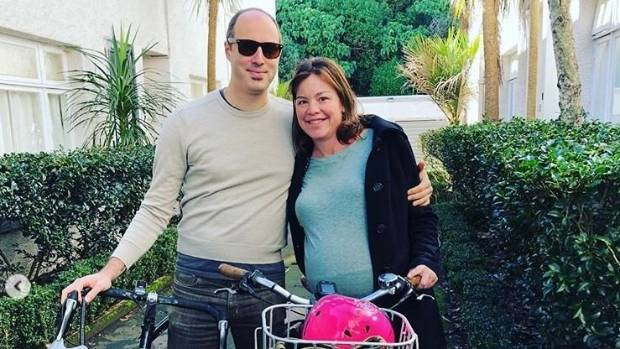 42 weeks pregnant New Zealand minister cycles to delivery ward