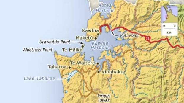 The trio surfed to Te Māika Point on Thursday 16 August, also known as Albatross Point, near Taharoa.