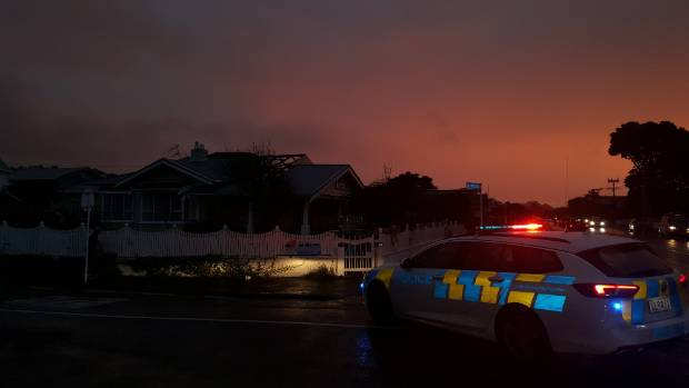A glowing red sunset dominated the sky after a tornado that struck New Plymouth around 5:30 pm on Monday.