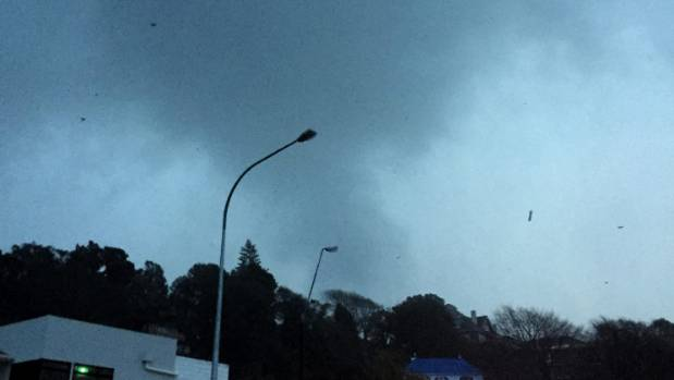 The tornado hit New Plymouth at 5:30 on Monday night.