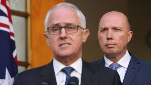 Australian Prime Minister Malcolm Turnbull will have to watch his back after Peter Dutton announced he is working on